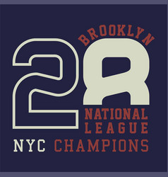 Brooklyn national champions vector
