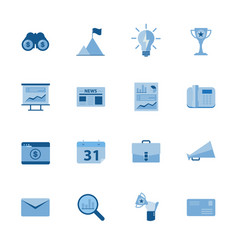 business icon set flat design vector image vector image