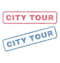 City tour textile stamps vector