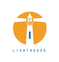 Concept template with lighthouse in flat design vector