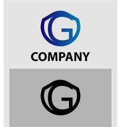 Corporate logo g letter company design temp vector