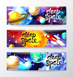 deep space vector image vector image