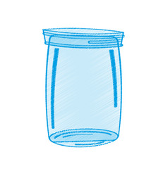 drawing glass jar icon vector image