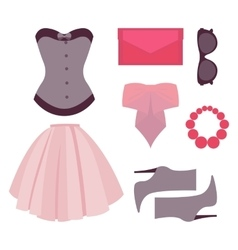 flat design concept of fashion look vector image vector image
