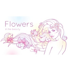 Flowers and the beauty vector