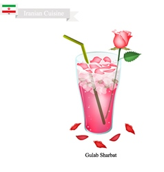 Gulab sharbat or iranian drink made from rose vector