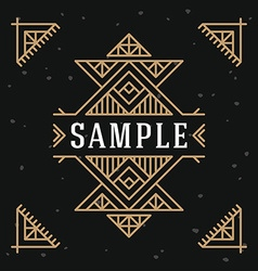 Line Art Decorative Geometric Frame Design vector image vector image