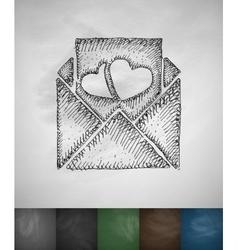 mash note icon Hand drawn vector image vector image