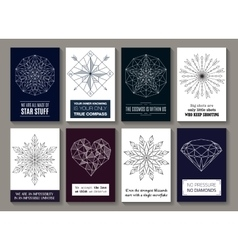 Motivational quotes cards with pictures vector image vector image