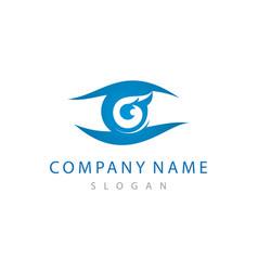 optometrist logo 2 vector image