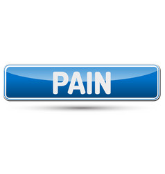 Pain - abstract beautiful button with text vector