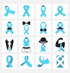 Prostate cancer awareness symbols vector
