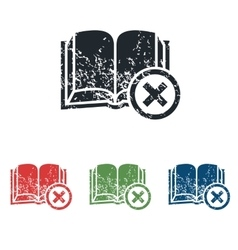Remove book grunge icon set vector image