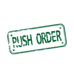 Rush order rubber stamp vector image vector image