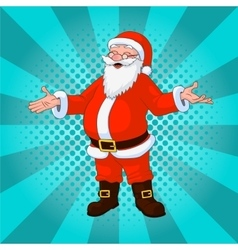 Santa claus comic style design with jolly plump in vector