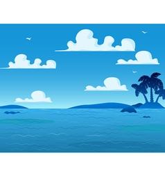 Sea landscape background vector
