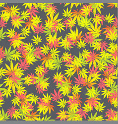seamless texture marijuana one vector image