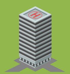 skyscraper building isometric vector image