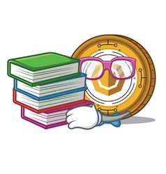 Student komodo coin mascot cartoon vector