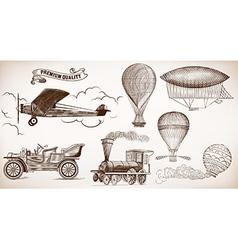 Transport set vector image vector image
