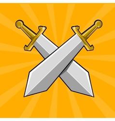 Two crossed swords vector