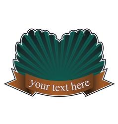 Vintage emblem with scroll vector