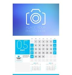 Wall calendar planner print template for 2017 year vector