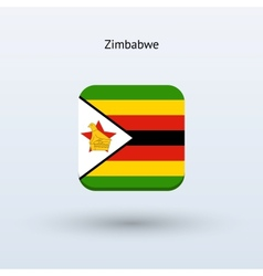 Zimbabwe flag icon vector