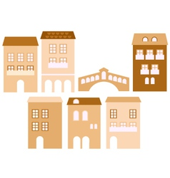 Old european town houses vector