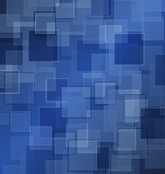 Abstract blue background with square vector