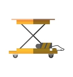 Lifting table warehouse delivery shadow vector
