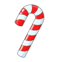 Candy cane for christmas icon cartoon style vector