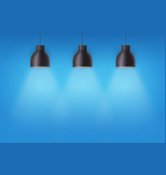Retro metal stylish ceiling cone lamps vector