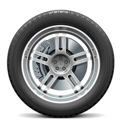 Car wheel with disk brake vector
