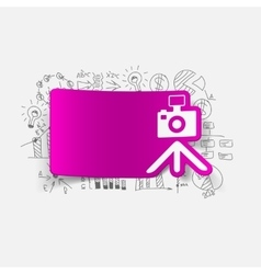 Drawing business formulas photo vector