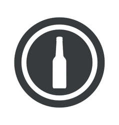 Round black bottle sign vector
