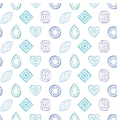 Seamless pattern with contour diamonds Blue and vector image