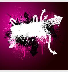 Arrow paint splatter vector
