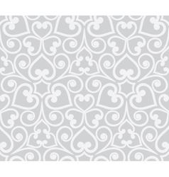 Abstract grey seamless hand-drawn floral pattern vector
