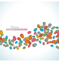Colorful easter egg isolated on white background vector