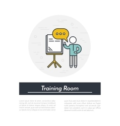 Training room icon vector