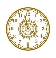 Watch face antique clock vector