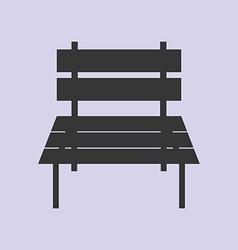 Garden bench icon vector