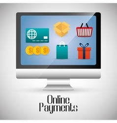 Online payments icons vector