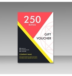 Gift voucher certificate coupon template vector