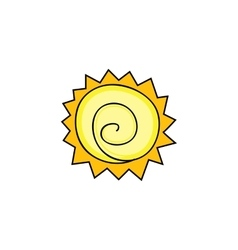 Abstract sun and sunlight vector