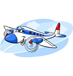 air plane cartoon vector image