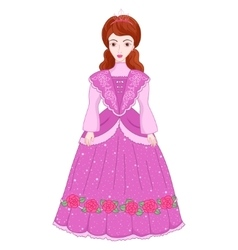 beautiful brunette princess in vector image vector image