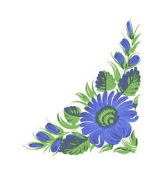 blue flower vector image