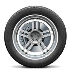 Car Wheel with Disk Brake vector image vector image